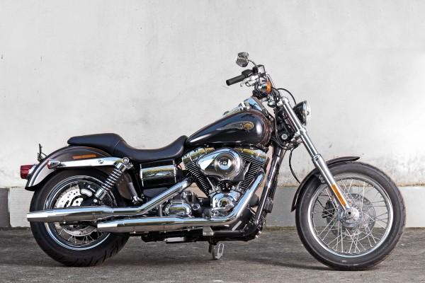 A vintage Harley Davidson motorbike (file picture)