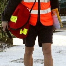 Postmen have been banned from wearing shorts under a health and safety ruling (file picture)