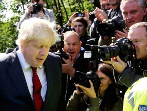 "SWNS Pictures of the Year 2016 - One hundred of the most compelling images on the SWNS wire this year as chosen by our picture editors.  Brexit campaigner Boris Johnson leaves his home in London on the morning after the EU Referendum when the British public voted 52% - 48% to leave the European Union. June 24, 2016.  Prime Minister David Cameron has announced he will step down by October after the vote.  In a statement outside Downing Street, he said he would attempt to ""steady the ship"" over the coming weeks and months but that ""fresh leadership"" was needed."