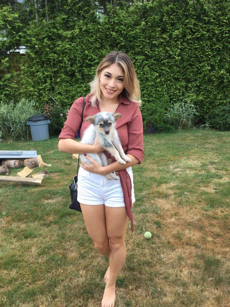 Joah Wood with Macky the puppy.