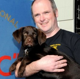 Roly and his owner PO Iain Hammond