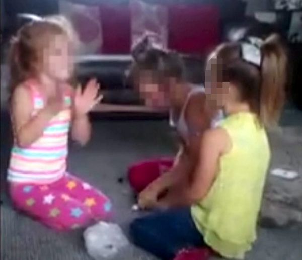 """The disturbing racist video of three angelic-looking girls singing """"if you all hate the p****s clap your hands"""" - while apparently being filmed by a proud parent"""