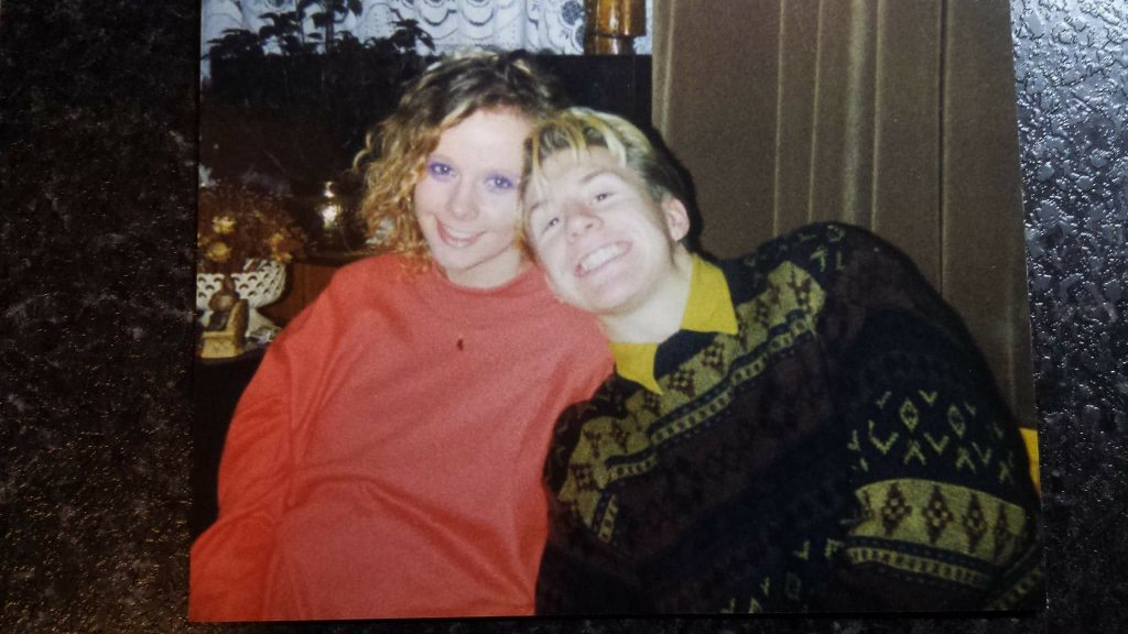 Davide and Jen Brimacombe pictured when they first got together.