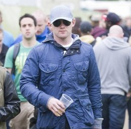 Wayne Rooney at Glastonbury