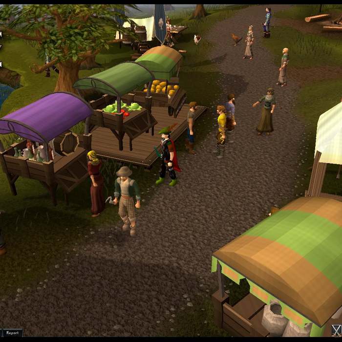 A scene from the online fantasy game RuneScape, which has become the first in the world to punish users with a virtual court room