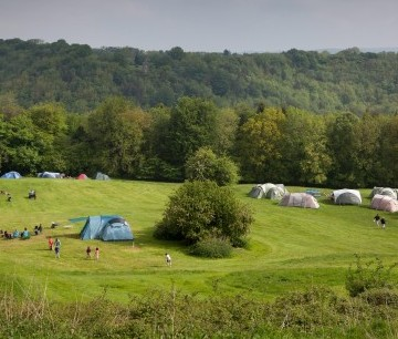 Thistledown Farm camp site near Stroud where a 7 year old boy went missing