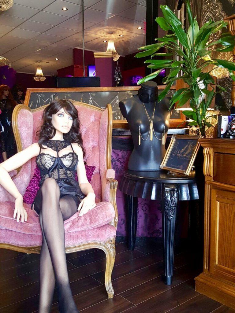 Samantha the sex robot at Vibez Adult Boutique.