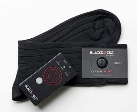 The Blacksocks iPhone connected smart socks