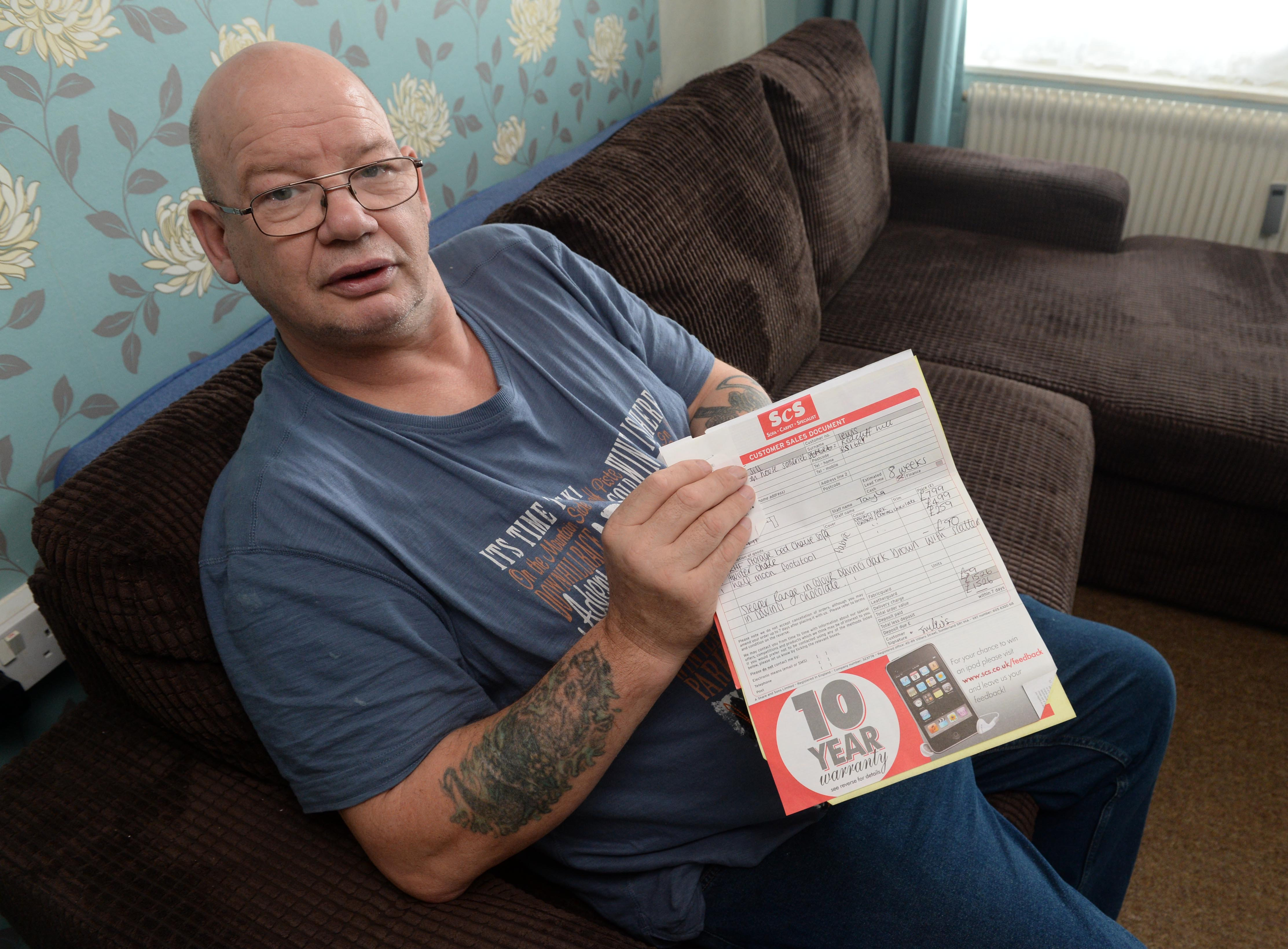 20 stone man is refused a refund on his broken £1,500 sofa