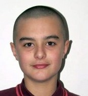 Stan after having his head shaved