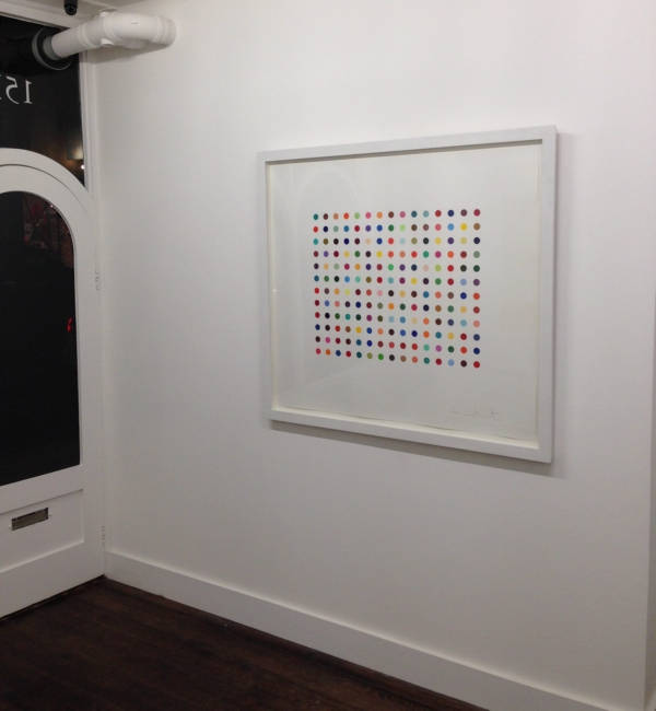 One of the stolen Hirst pieces