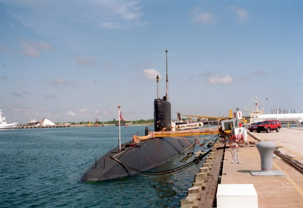 The crew of British nuclear submarine HMS Trubulent nearly boiled to death after its air conditioning became clogged by crabs and barnacles