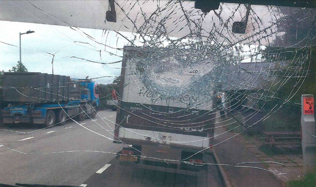 They smashed several windscreens and injured one driver. A judge said that it was 'only by the Grace of God' that no one was killed