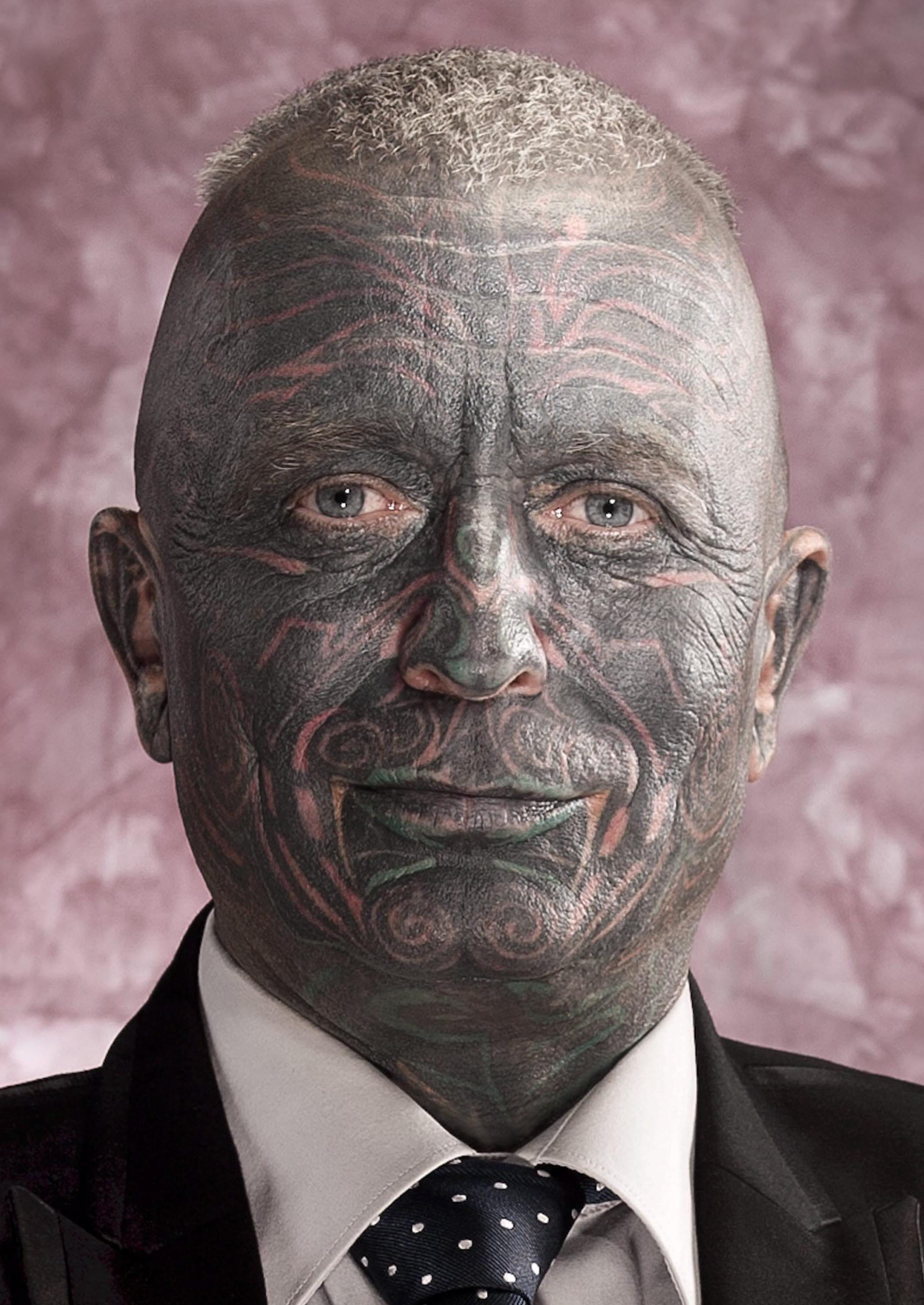 Vladimir Franz wants to become the world's first fully tattooed head of state