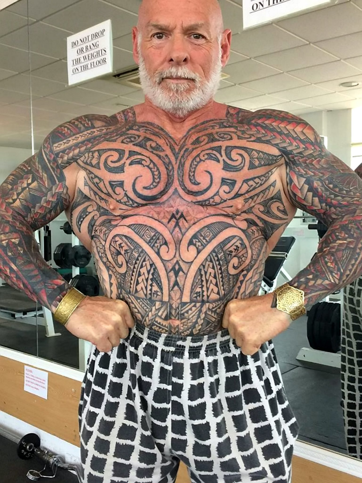5addc26c7 Bodybuilder Who Wanted Tattoo Cover Up Got Hooked And Ended Up With ...