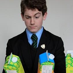 Albert Gifford spotted a grammatical error on Tesco juice