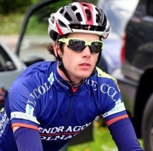 Junior Heffernan, 23, was knocked off his bike by an oncoming vehicle as he sped round a bend at the 41st Severn Bridge Road Race in Gloucestershire