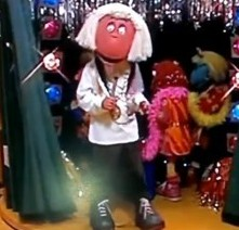 """The character from the Cbeebies show """"Tweenies"""" dressed as paedophile Jimmy Savile. The show aired yesterday amidst the sex scandal concerning the disgraced DJ"""