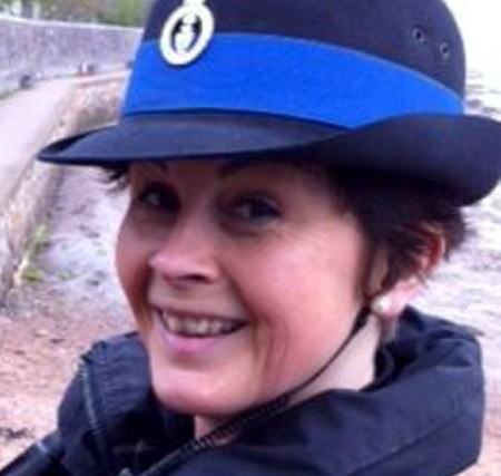 Police Community Support Officer Sarah Giles, who has been removed from Twitter by her force