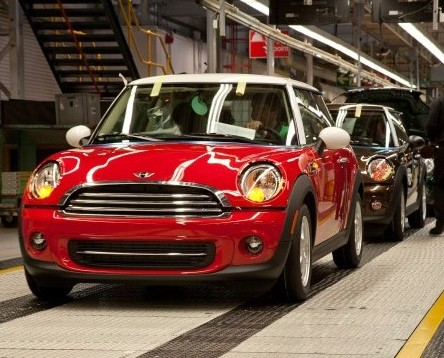 The Mini factory in Oxford, which has helped to boost the UK economy as record number of new cars were exported last year