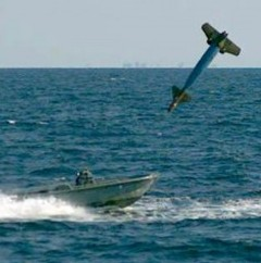 The U.S. Air Force has shown off it capabilities by launching a laser-guided missile into a - small floating dinghy