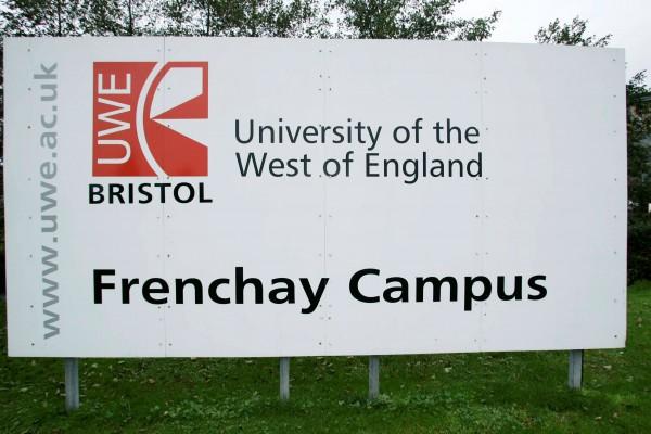 The UWE campus in Bristol