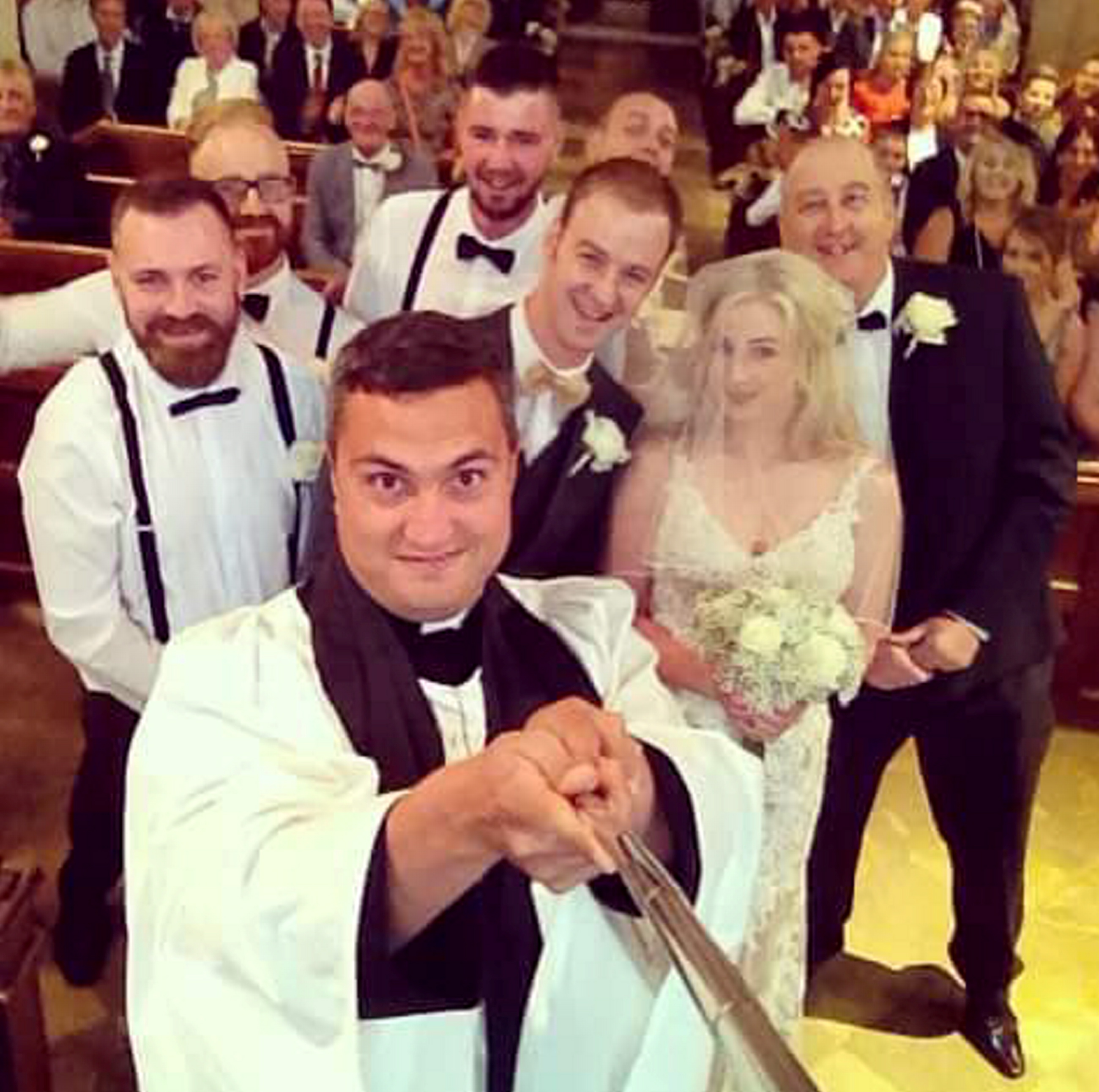 Wedding Altar Selfie