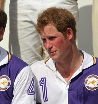 Part-loving Prince Harry, right, with brother Wills at the Polo