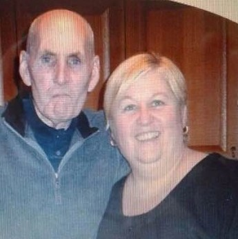 Rob Gent, late father of Elaine Briscoe (right), 48, from Stockton-on-Tees and Sandy Millington (left), 45, who had to pay back 100,000 after an insurance windfall from his death turned out to be a major blunder