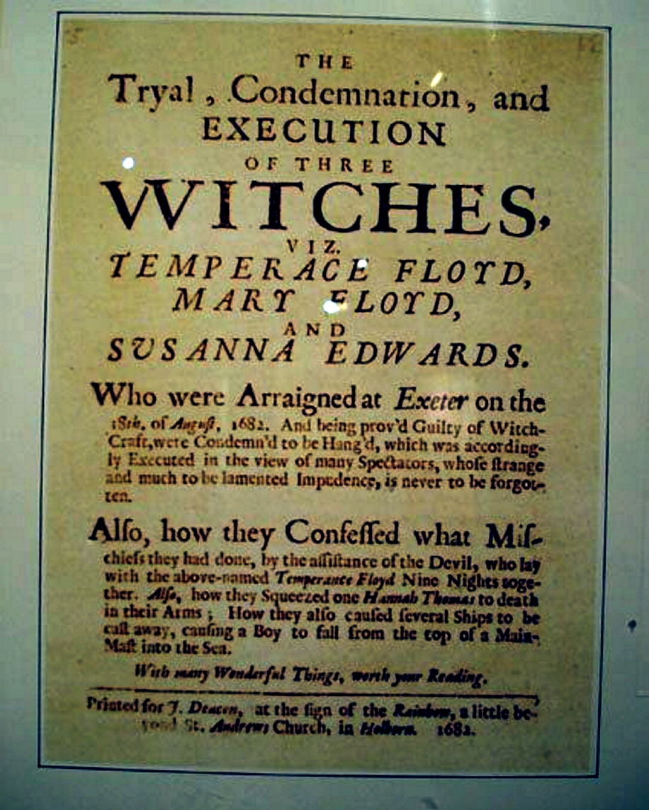 The 'witches' excution notice issued 330 years ago for the women