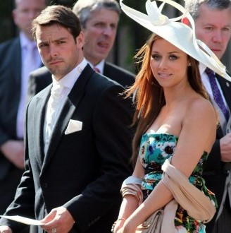 Ben Foden and Una Healy together in July 2011.