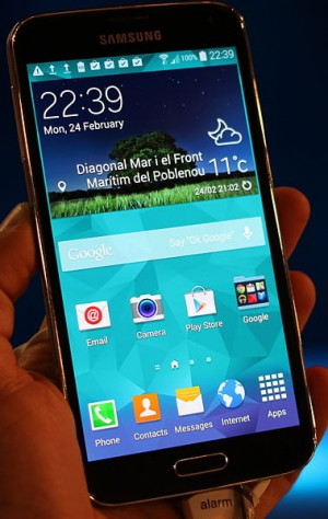 The Samsung Galaxy S5 is one of the innovations at this years Mobile World Congress