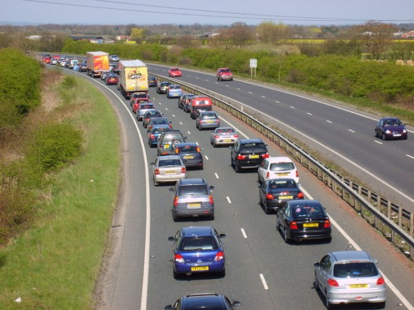 The average British driver will get stuck in traffic 10,000 times, according to a report