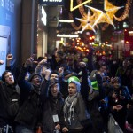 Hundreds of Nintendo fans braved the winter weather for the midnight launch of the Wii U