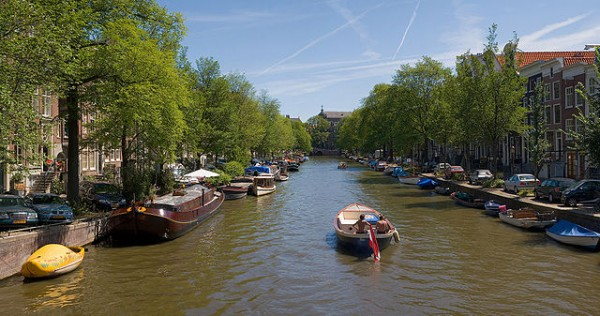 The world-famous Amsterdam canals