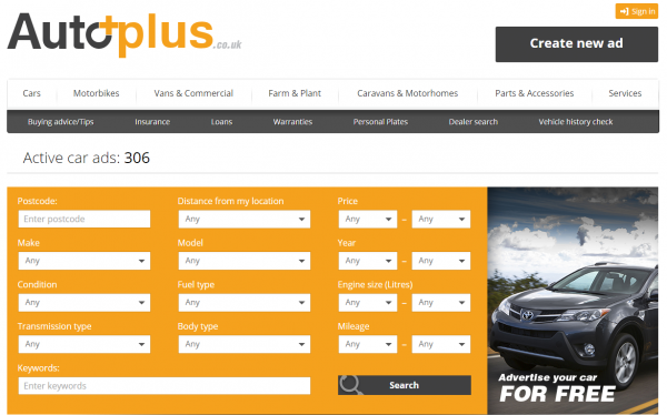 AutoPlus allows car owners to sell their vehicle for free