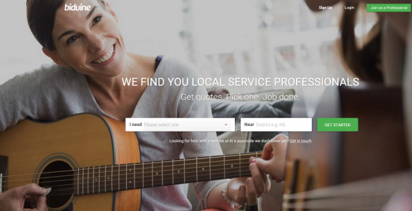 Bidvine is a marketplace for professionals in London