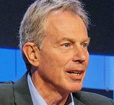 Former PM Tony Blair, pictured at the World Economic Forum, has been criticised for not paying interns, despite being the man to introduce the minimum wage