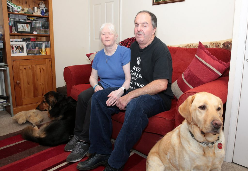 Frank and Nicola Gardner who were burgled at their home in Sheffield.