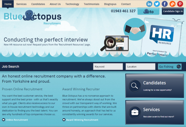 Online recruitment agents Blue Octopus have added Regatta and Equity Housing to their portfolio of careers sites