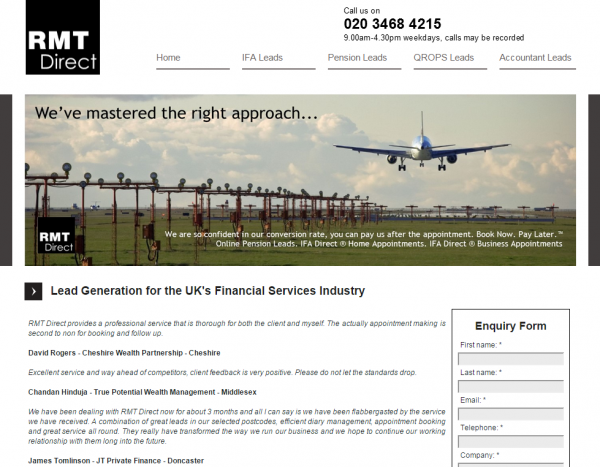 RMT Direct have launched a new call centre service for business bookings
