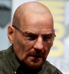 Bryan Cranston from hit show Breaking Bad which has been blamed for a rise in crystal meth use in Britain