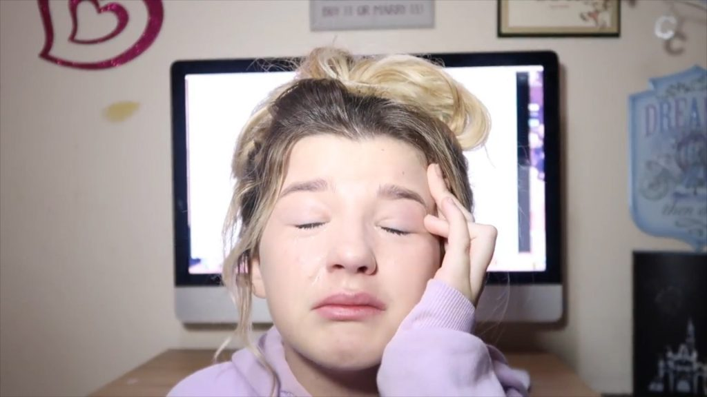 An emotional response from Sacha Davies from Llanelli, South Wales, posted an emotional response after being bullied when starting a youtube channel.