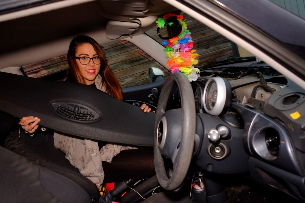 Jodie Hawkins from Bristol lost her hamster Cable Houdini when it managed to get into the dashboard of the car.