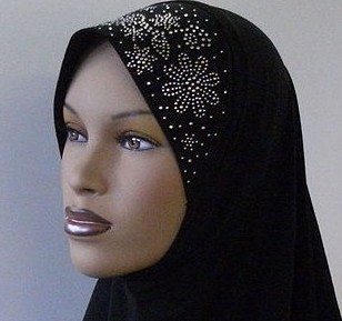 A Hijab headscarf similar to the one worn by the woman when it caught fire