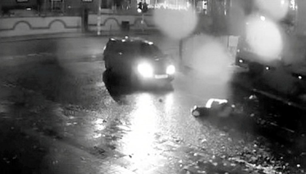 CCTV footage showing the moment a father of three was struck by a car which then failed to stop in Birmingham, as the hunt continues for the driver.