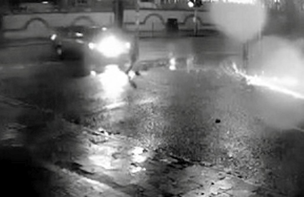 CCTV footage showing the moment a father of three was struck by a car which then failed to stop in Birmingham, as the hunt continues for the driver