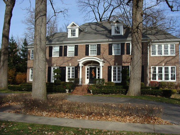 The house from the film Home Alone, which has been voted the best Christmas movie of all time