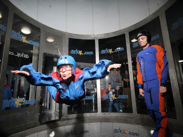 Indoor skydiving is a truly original Christmas gift