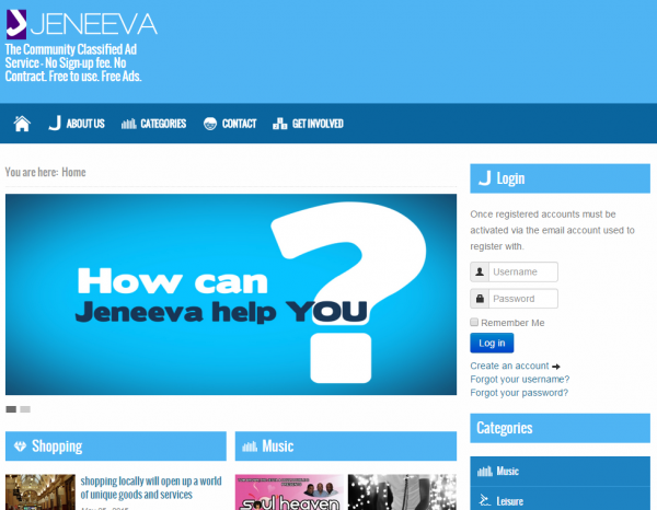 The Jeneeva directory listing site for free ads in the UK